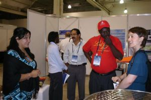 Discussing projects and posters at Safety 2008