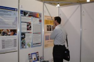 Dr. David Meddings from WHO reviews IPPNW poster