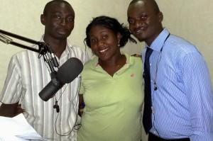 Homsuk Swomen, national student representative of IPPNW Nigeria with co-presenters