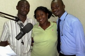 Homsuk Swomen, national student representative of IPPNW Nigeria with co-presenters