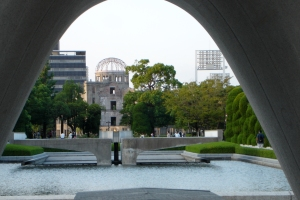 Hiroshima today provides world leadership for peace and for the abolition of nuclear weapons