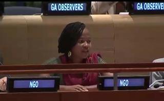 Nosizwe Lise Baqwa addresses the High Level Meeting
