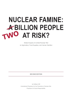 Nuclear Famine report cover