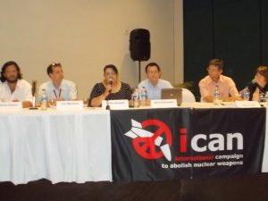 Tonie Jaquez of the Mexican Foreign Ministry welcomes ICAN to Nayarit
