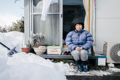 Displaced Fukushima resident. Photo by Kristian Laemmle-Ruff
