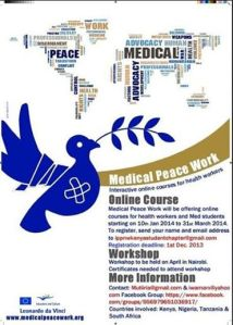 medical peace work poster
