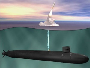 SSBN-X, Ohio class replacement submarine, equipped with Trident nuclear missiles