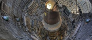 A Soviet nuclear missile in its silo in Ukraine, which returned all nuclear weapons based on its territory after the collapse of the Soviet Union.