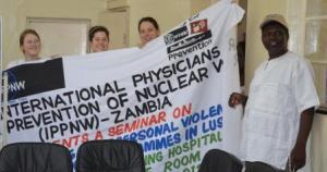 Bob Mtonga with Medical Students Marianna, Ines, Katharina - compressed