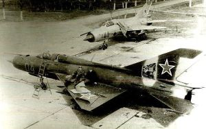 Soviet MIG-21s at Rumbula airfield in Latvia, abandoned at the end of the Cold War