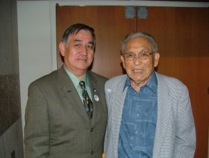 Dr. James Yamazaki (right) with PSR-LA board member Jimmy Hara