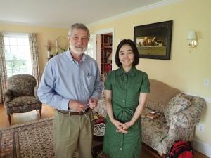 NHK reporter Emiko Yamasaki Lenart with co-president Ira Helfand.