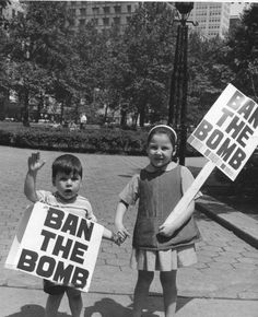 """Ban the bomb"" — 1959"