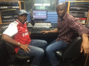Drs. Emeka Okolo and David Onazi during radio broadcast
