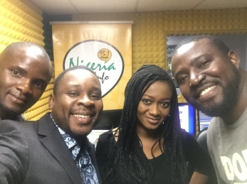 Nigeria radio project team at studio 2017